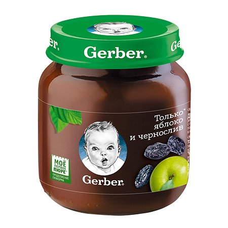 Пюре Gerber яблоко чернослив 130г