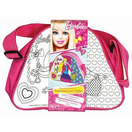 Набор для росписи Barbie сумка + фломастеры Barbie