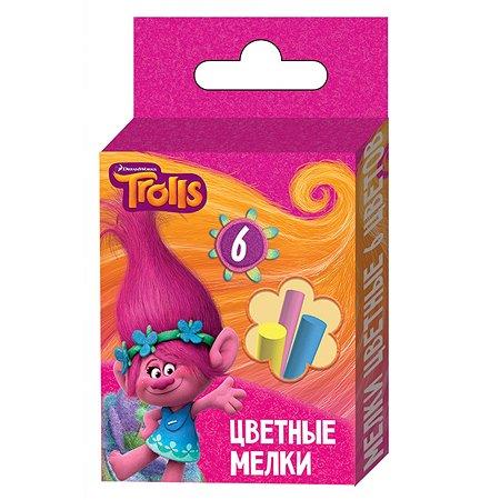Мелки Trolls цветные TROLLS 6 цветов