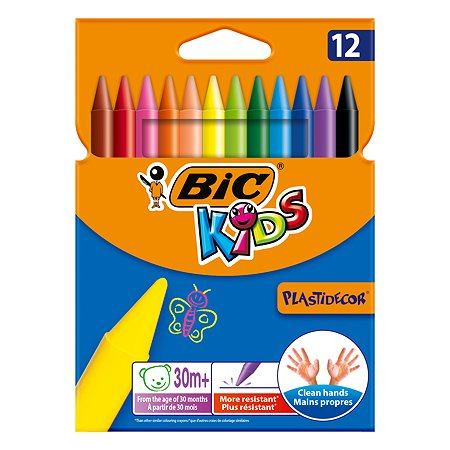 Мелки цветные BIC Kids Plastidecor 12 цв