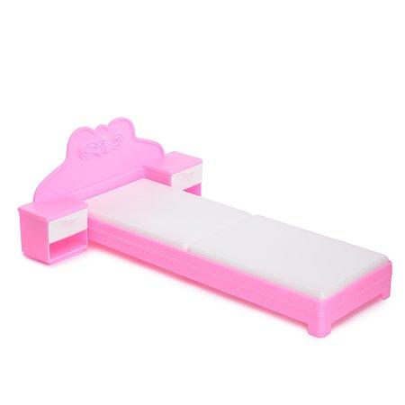 Кровать Огонек для куклы Розовая