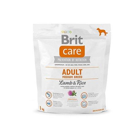 Корм для собак Brit Care средних пород с ягненком и рисом 1кг
