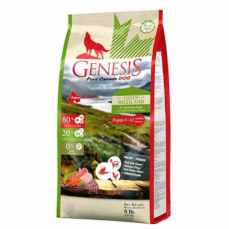 Корм для собак Genesis Pure Canada Green Highland Puppy с курицей козой и ягненком 2.268кг