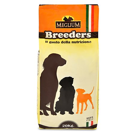 Корм для собак Meglium Breeders Sensible ягненок-рис 20кг