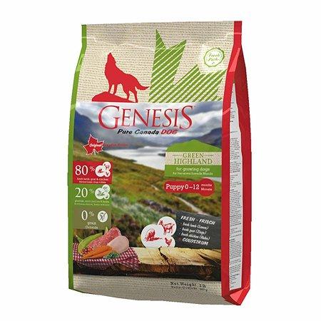Корм для собак Genesis Pure Canada Green Highland Puppy с курицей козой и ягненком 907г