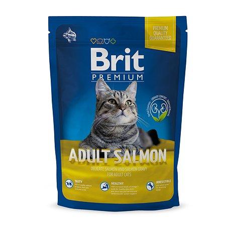 Корм для кошек Brit Premium лосось1.5кг