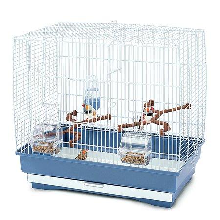 Клетка для птиц IMAC Irene 3 средняя Белый-Синий