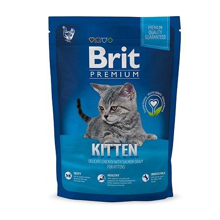 Корм для котят Brit Premium курица в лососевом соусе1.5кг