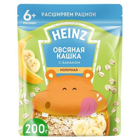 Каша молочная Heinz овсяная с бананом 200г с 6месяцев