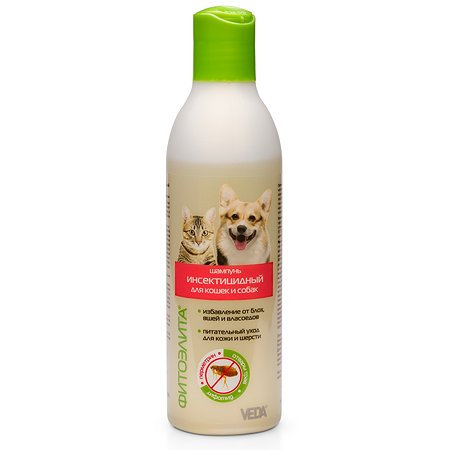 Шампунь для кошек и собак Veda Фитоэлита инсектицидный 220мл