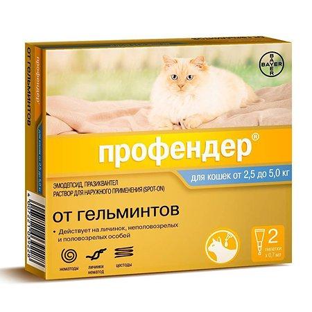 Антигельминтик для кошек BAYER Профендер 0.7мл 2пипетки