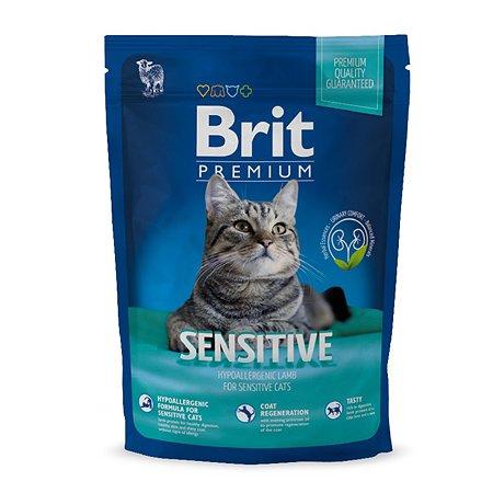 Корм для кошек Brit Premium чувствительное пищеварение ягненок 1.5кг
