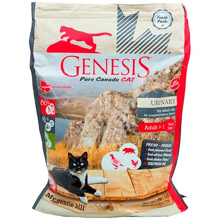 Корм для кошек Genesis Pure Canada My Gentle Hill Urinary с кабаном фазаном и курицей 340г