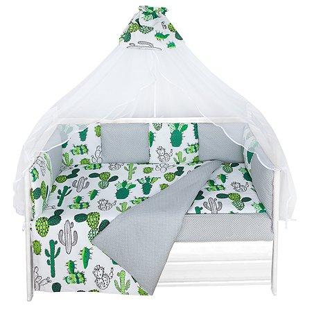 Комплект постельного белья AMARO BABY Оазис 8предметов ABDM-3019P-K