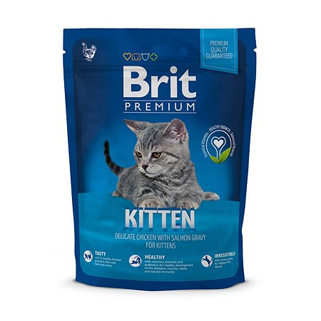 Корм для котят Brit Premium курица в лососевом соусе 300г