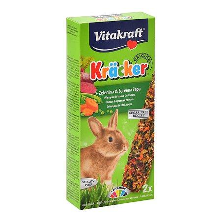 Лакомство для кроликов Vitakraft Крекеры овощные 2шт 10625
