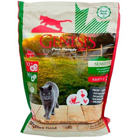Корм для кошек Genesis Pure Canada My Green Field Sensitive сговядиной.гусем и курицей 340г