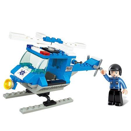 Конструктор SLUBAN Городская серия. Полицейский вертолет