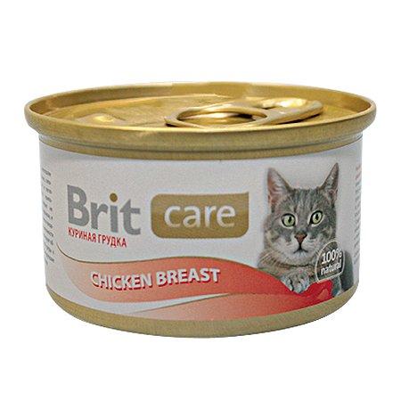 Корм влажный для кошек Brit Care 80г с куриной грудкой