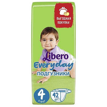 Подгузники Libero Everyday 4 7-18кг 42шт