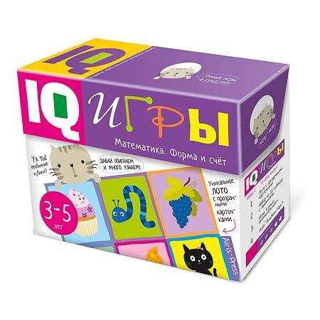 Сундучок с IQ играми Айрис ПРЕСС Математика. Форма и счет. 3-5 лет