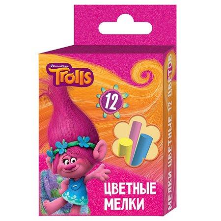 Мелки Trolls цветные TROLLS 12 цветов