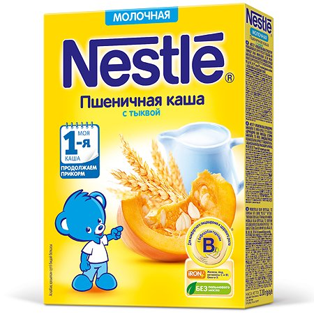 Каша Nestle пшеничная с тыквой 220г с 5месяцев