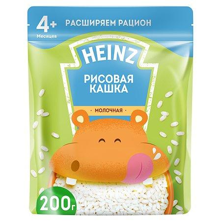 Каша молочная Heinz рисовая 200г с 4месяцев