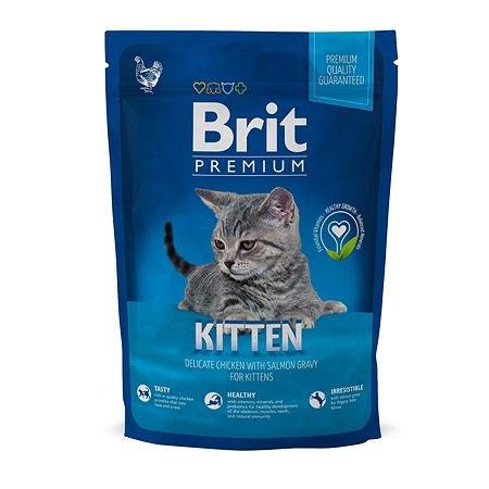 Корм для котят Brit Premium курица в лососевом соусе 800г
