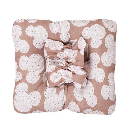 Подушка для кормления малыша AMARO BABY Sweet Kiss Ушки Кофе ABDM-40BJ-MK