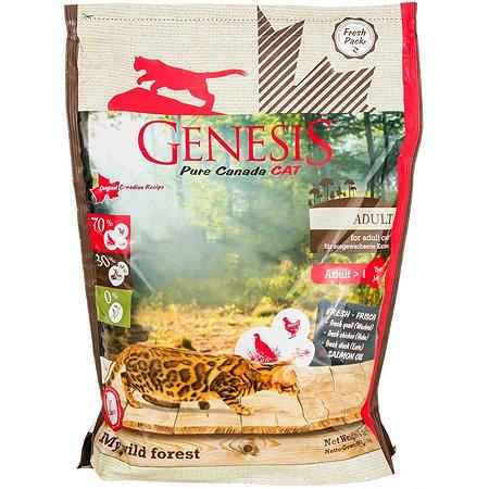 Корм для кошек Genesis Pure Canada My Wild Forest Adult с уткой перепелкой и курицей 2.268кг