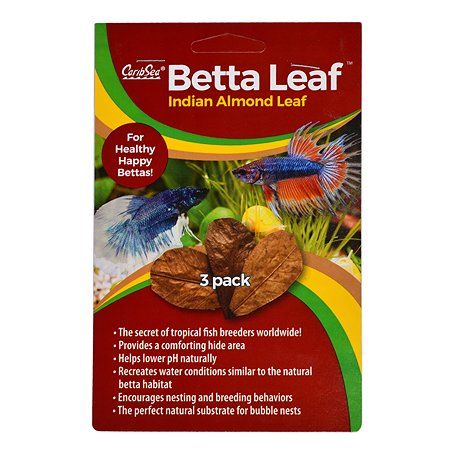 Листья индийского миндаля CaribSea Betta Leaf 3шт 00650