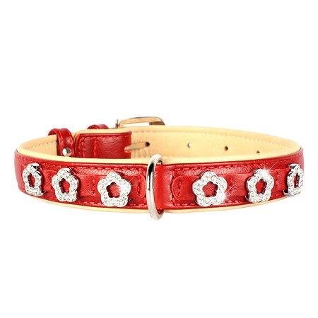 Ошейник для собак CoLLar Brilliance Цветочек двойной Красный 48913