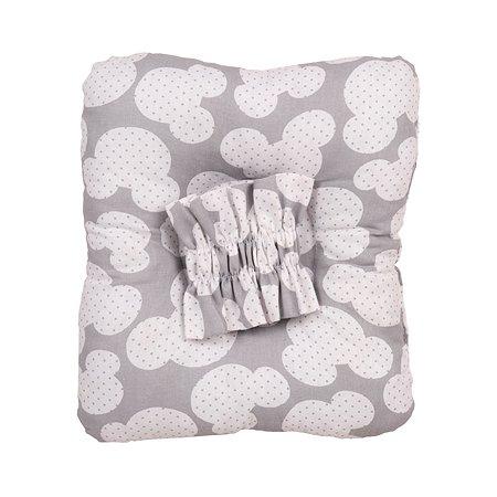 Подушка для кормления малыша AMARO BABY Sweet Kiss Ушки Серый ABDM-40BJ-MS