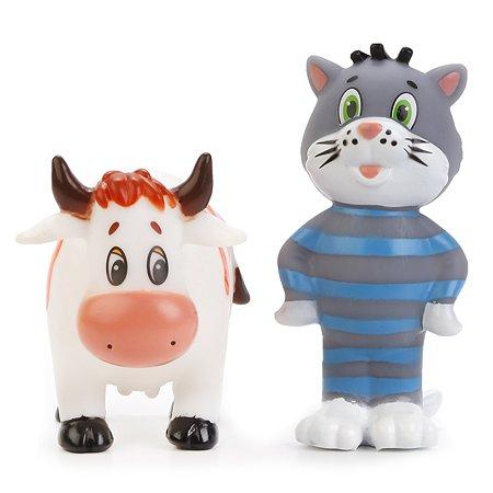 Набор для ванной Играем вместе Трое из Простоквашино Кот и корова