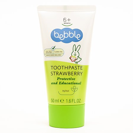Зубная паста Bebble Клубника 50мл с 6месяцев