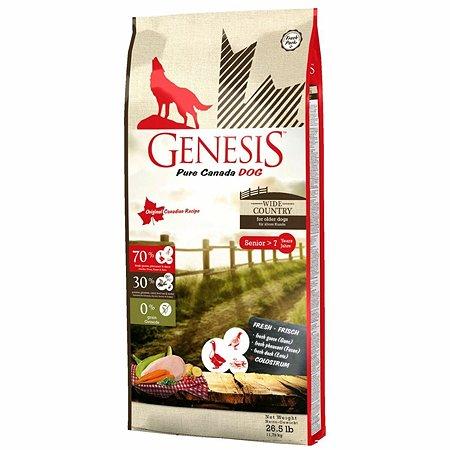 Корм для собак Genesis Pure Canada Wide Country Senior с мясом гуся фазана утки и курицы 11.79кг