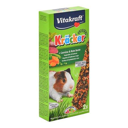 Лакомство для морских свинок Vitakraft Крекеры овощные 2шт 25208