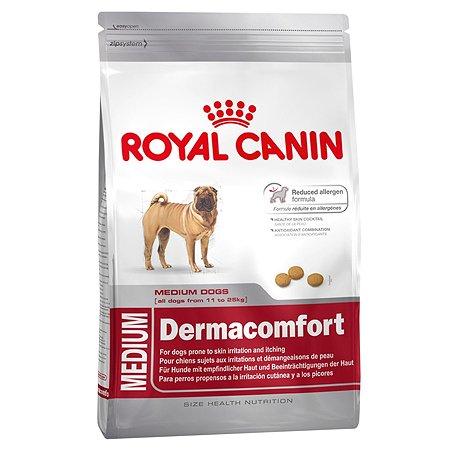 Корм для собак ROYAL CANIN средних пород с раздраженной и зудящей кожей 3кг