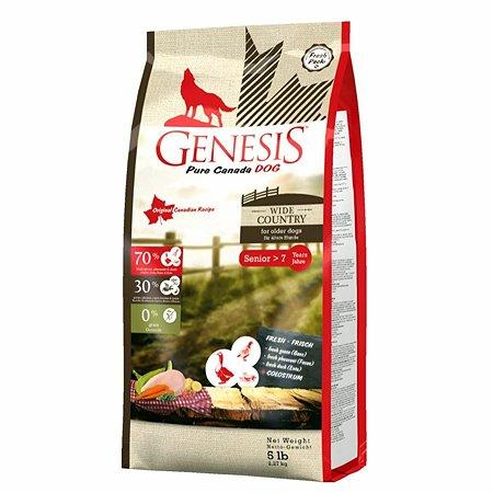Корм для собак Genesis Pure Canada Wide Country Senior с мясом гуся фазана утки и курицы 2.268кг