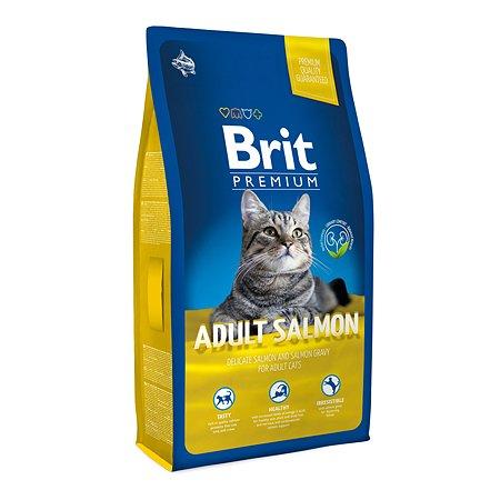 Корм для кошек Brit Premium лосось 8кг