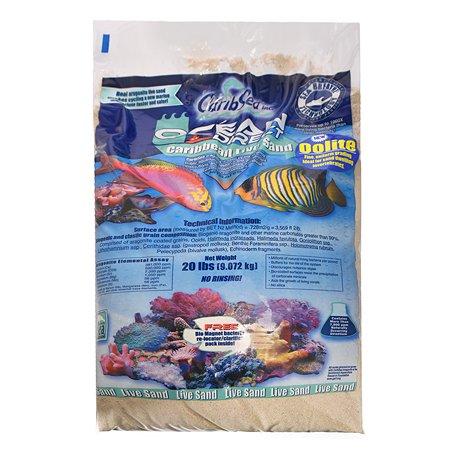 Грунт для аквариума CaribSea Oolite морской Белый 9кг 01920