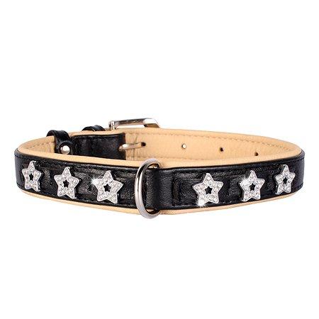 Ошейник для собак CoLLar Brilliance Звездочка двойной Черный 48941