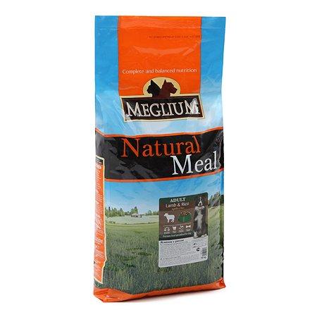 Корм для собак Meglium Sensible ягненок-рис 15кг