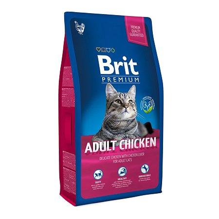 Корм для кошек Brit Premium курица 8кг