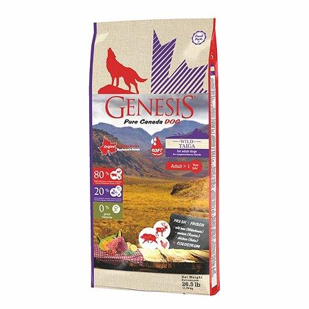 Корм для собак Genesis Pure Canada Wild Taiga Soft с мясом дикого кабана северного оленя и курицы 11.79кг