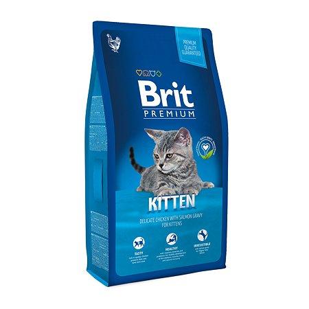 Корм для котят Brit Premium курица в лососевом соусе 8кг