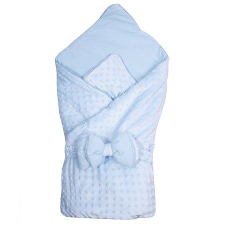 Конверт-одеяло Эдельвейс Нежность с бантом Голубой 11215