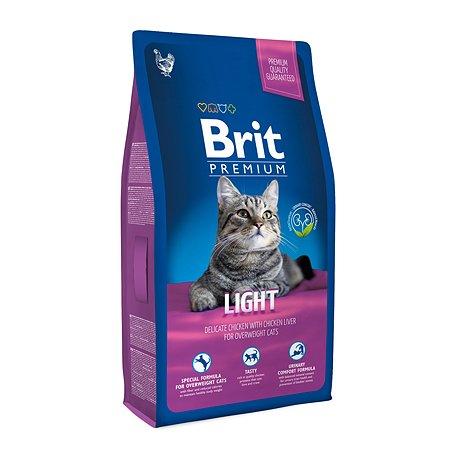 Корм для кошек Brit Premium избыточный вес курица 8кг