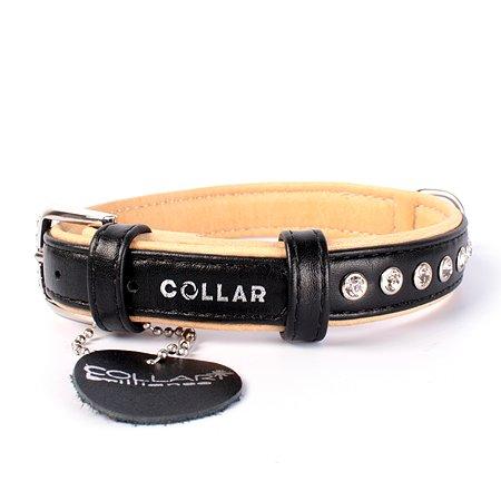 Ошейник для собак CoLLar Brilliance со стразами премиум класса Черный 38001